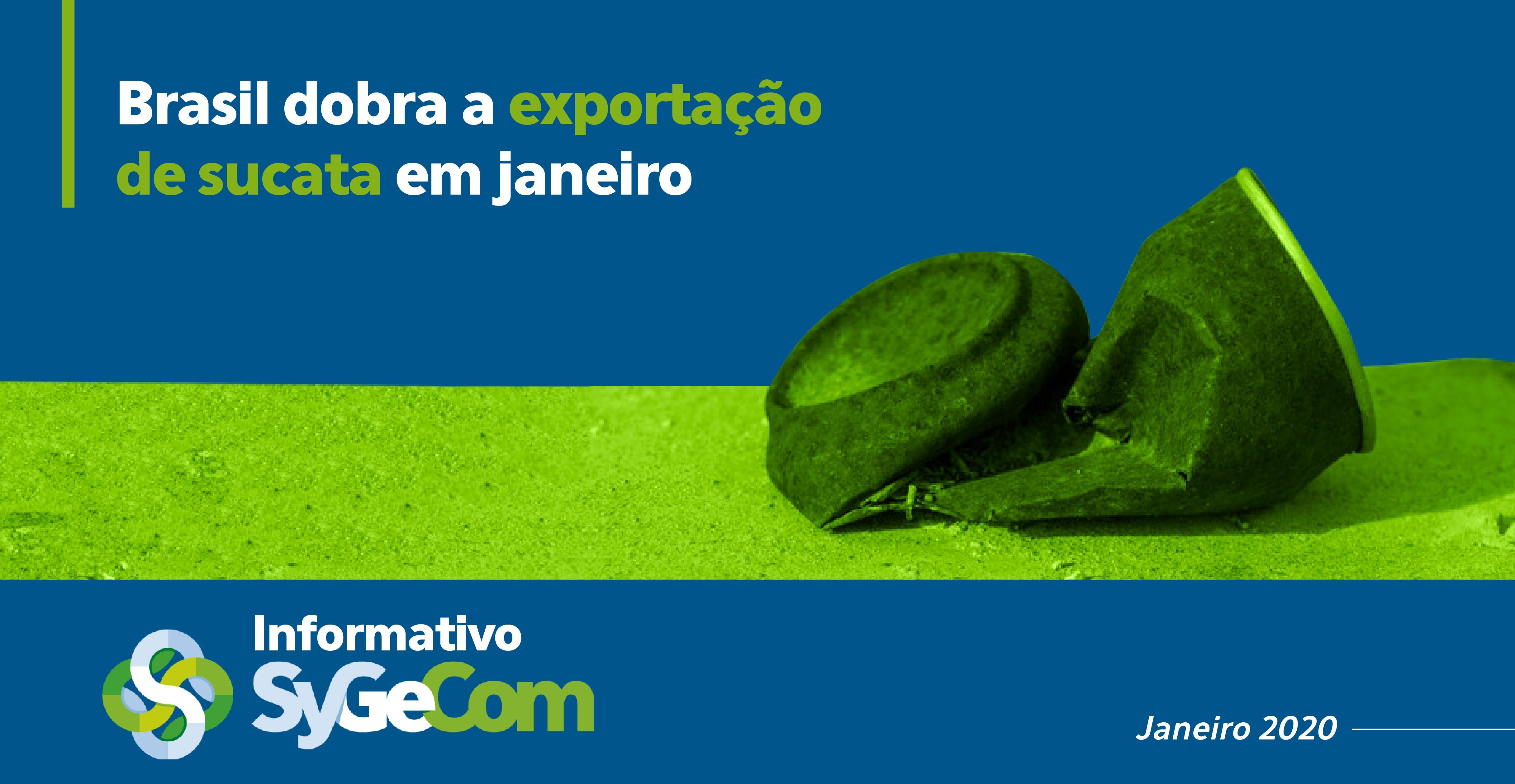 Brasil dobra a exportação de sucata em janeiro