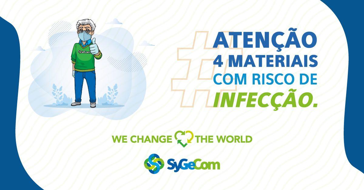 Atenção 4 materiais com risco de infecção