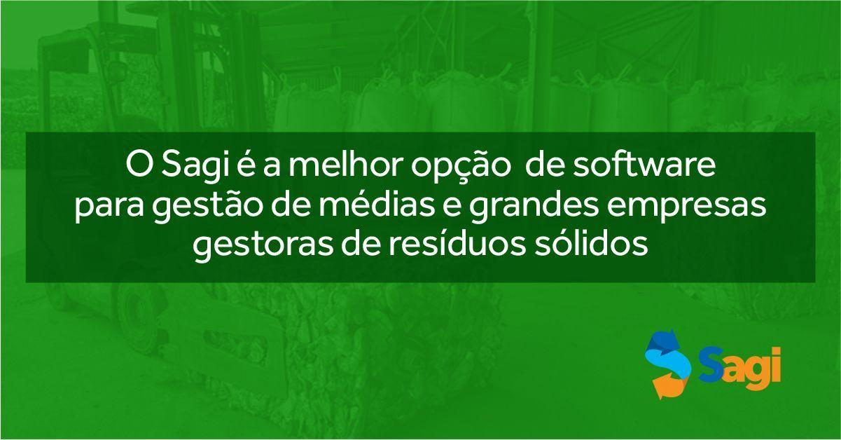 O Sagi é a melhor opção de software para gestão de empresas de médias e grandes empresas gestoras de resíduos