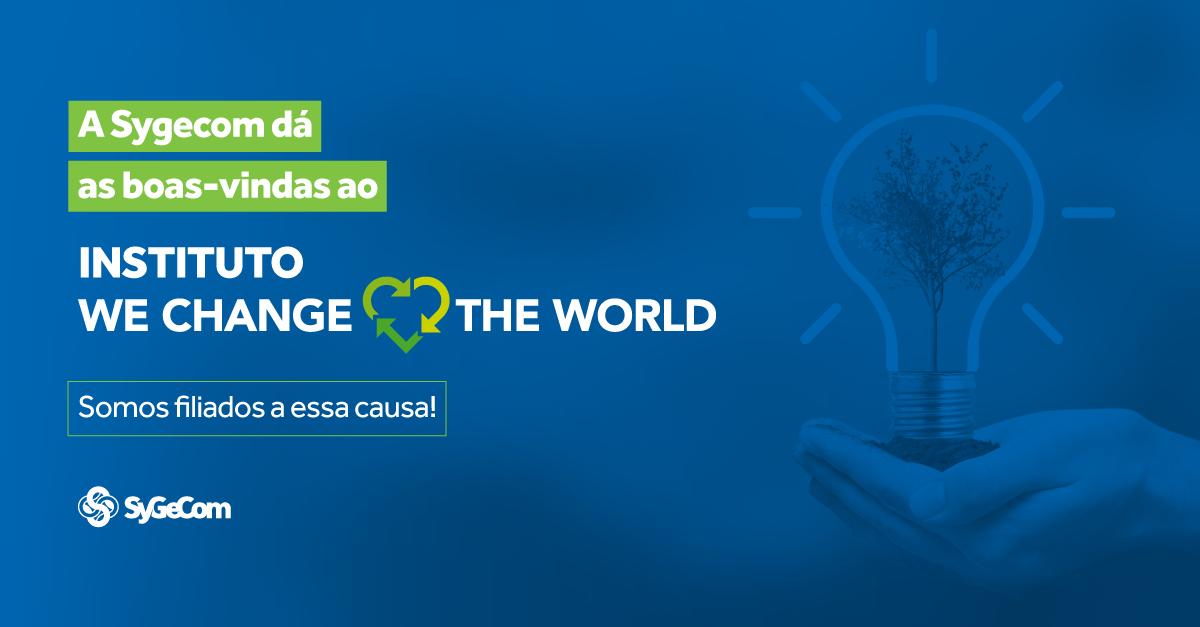 A Sygecom dá boas vindas ao instituto We Change The World